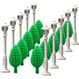 White Street lamp Tree for LEGO garden house parts building block toy street light children gifts by SPRITE WORLD