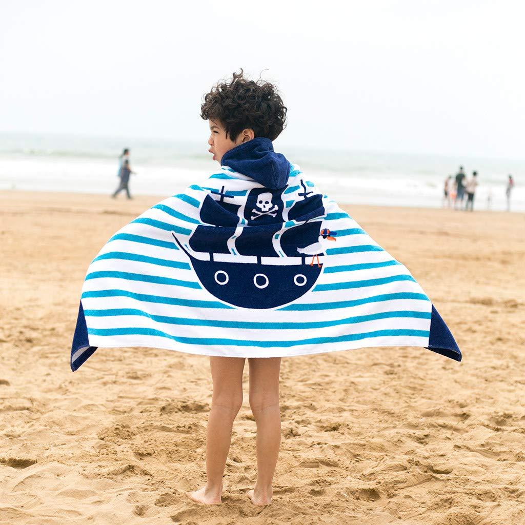 WHSHINE Kinder Hoodies Badetuch Strandtuch Umhang Jungen M/ädchen Karikatur Drucken Kapuzenhandtuch Baumwolle Bademantel Schwimmen Handtuch Strandumhang