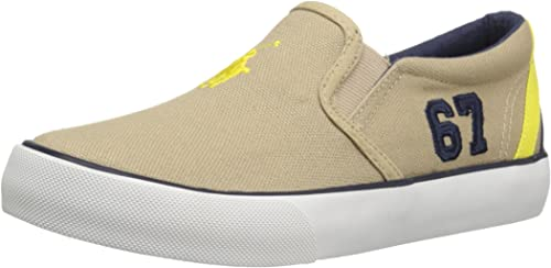 E6264 Sneaker Bimbo Beige Polo RALPH LAUREN Scarpe Slip on Canvas ...