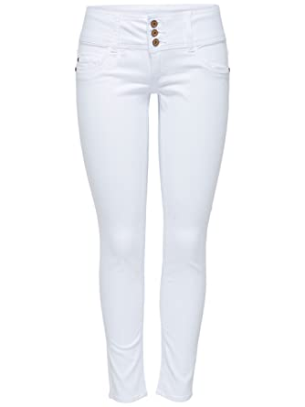 ONLY Damen Denim Jeans Anemone Soft Ankle PIM 907 White weiß knöchellang  (W27  bbf64b4708