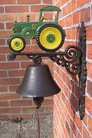 Hierro pared Campana de tractor Campana de hierro fundido XL de 89: Amazon.es: Jardín