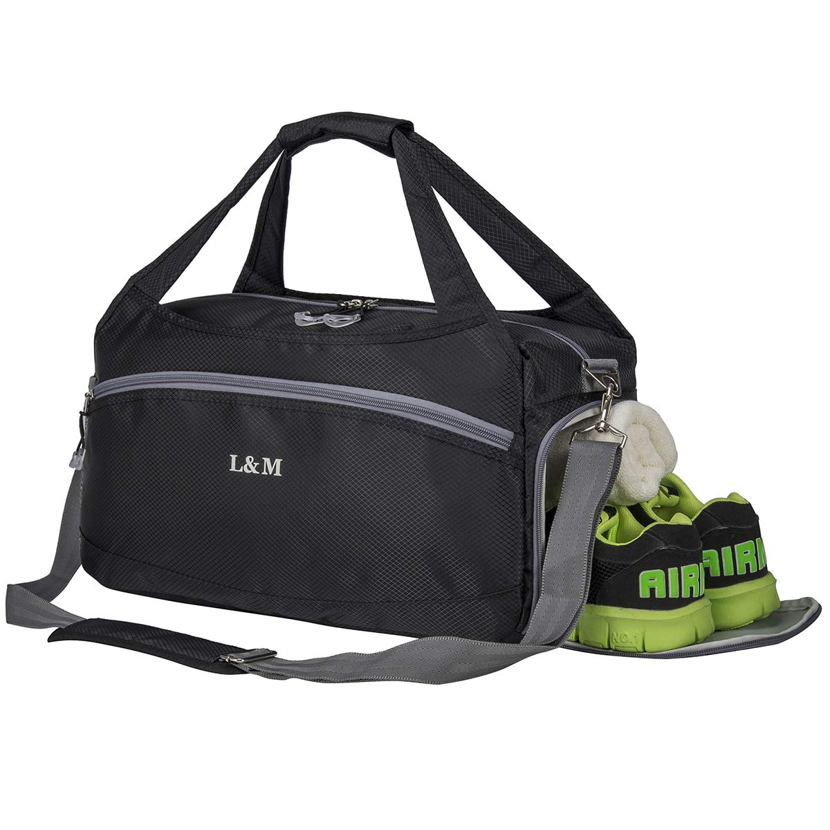 Kuston Small Sports Gym Bag Duffel bag mini travel duffel with shoe compartment for Men/&Women