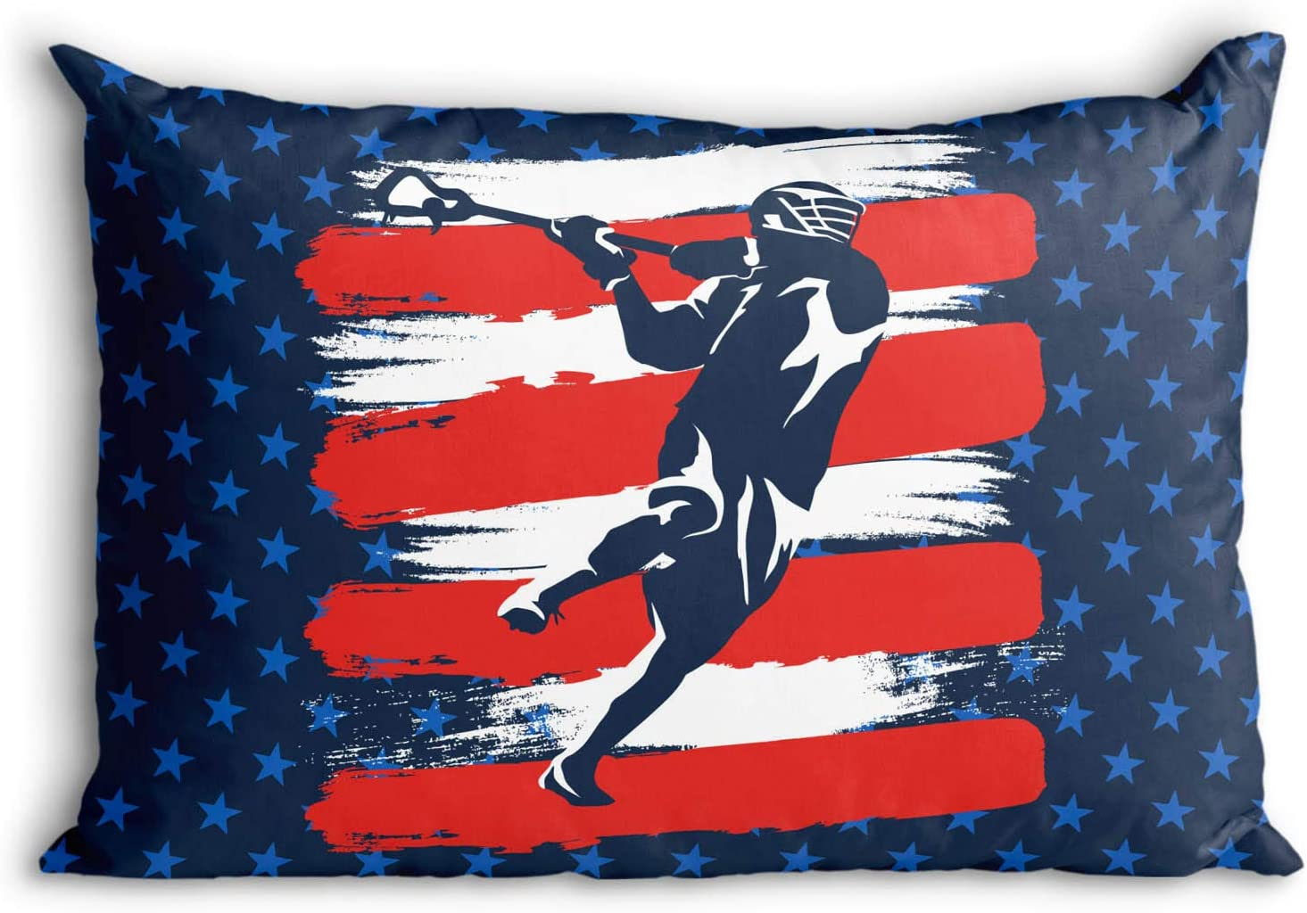 USA Laxer Pillowcase   Guys Lacrosse Pillows by ChalkTalk Sports