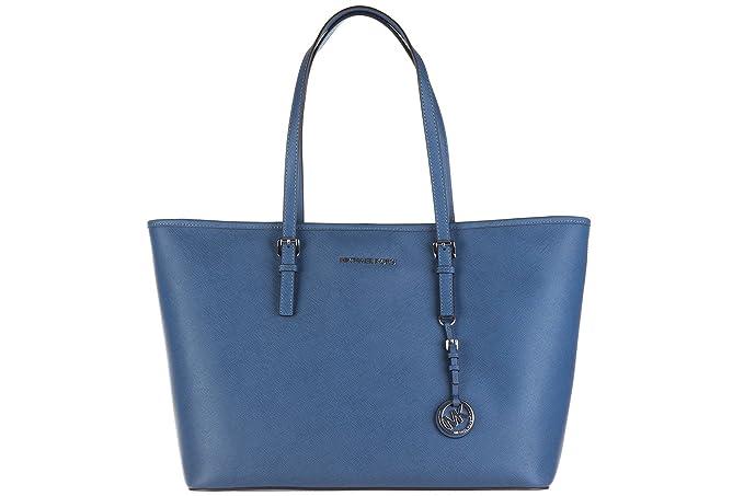 64ab1a9428 Borsa shopping Michael Kors Jet Set Travel blu acciaio: Amazon.it:  Abbigliamento