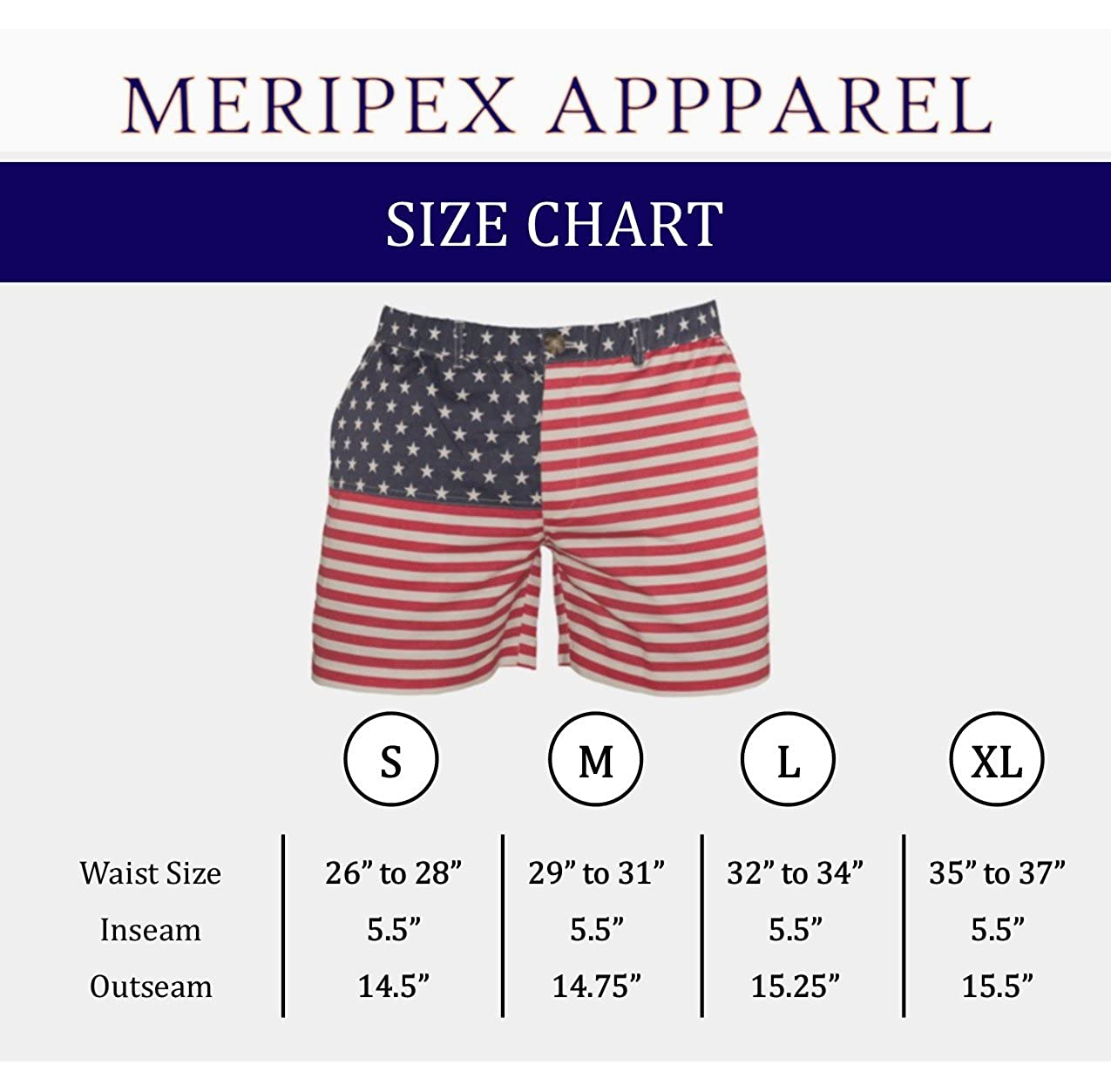 d9b670f724 Meripex Apparel American Flag Men's 5.5 Inseam Elastic-Waist Shorts ...