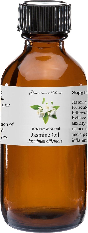 Jasmine Essential Oil - 2 fl oz -100% Pure and Natural - Therapeutic Grade - Grandma's Home