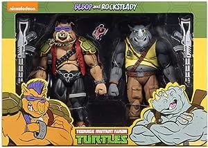"NECA Teenage Mutant Ninja Turtles Bebop and Rocksteady (Classic Cartoon) 7"" Action Figure 2 Pack Target Exclusive"