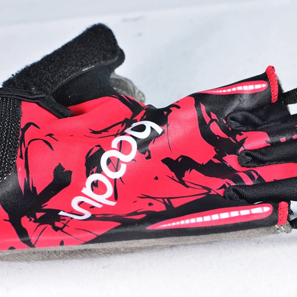MIFULGOO Boy Girl Child Children Kid Padded Half Finger Fingerless Short Gloves Mitt Mitten for Cycling Exercise Skate Skateboard Roller Skating