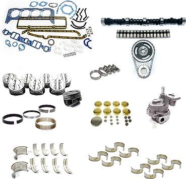 Amazon Com Early Sbc Chevy 350 5 7l Marine Master Engine Rebuild Kit Camshaft Pistons Automotive