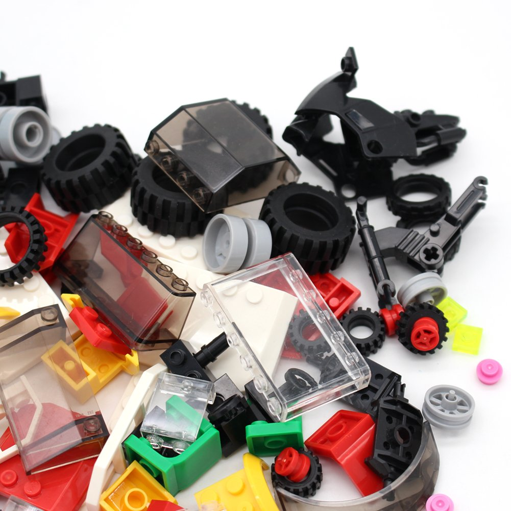 and Axles Set Steering Wheels Building Bricks Block Compatible Major Brands Wheels Windshields and Colorful Brick Building Chassis Pieces Education Wheels Set Toy Taken All Tires