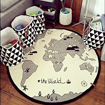 Amazon hiltow world map rug kids rug child game mats baby hiltow world map rug kids rug child game mats baby play mat round area rug gumiabroncs Choice Image