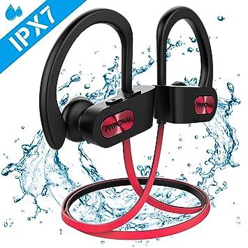 Nueva versión】 Auriculares Bluetooth deportivos, llamas IPX7 ...