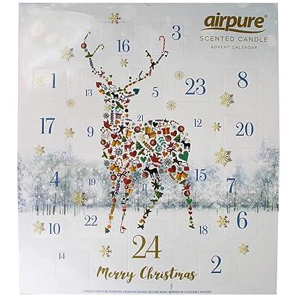 Calendario Conto Alla Rovescia.Pureair Candela Profumata Di Lusso Calendario Dell Avvento Renna Stag Fun Adulto Conto Alla Rovescia Per Natale