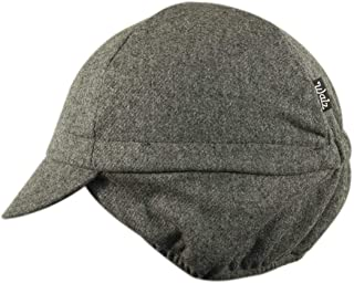 product image for Wool 4-Panel Grey Ear Flap Cycling Cap