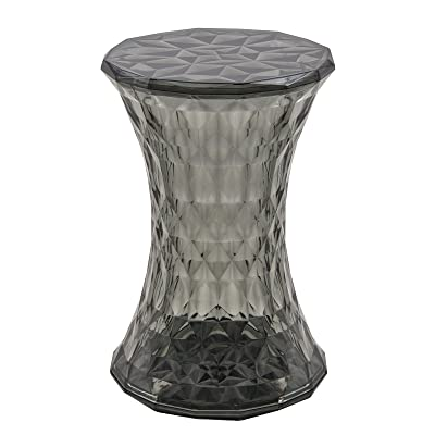 LeisureMod Diamond Shaped Modern Vanity Clio Stool/Side Table Indoor And  Outdoor Use (Black