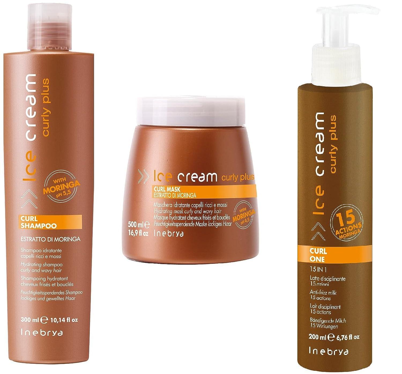 INEBRYA Ice Cream Curly Plus Kit Set of 3 1000ml Amazon Beauty