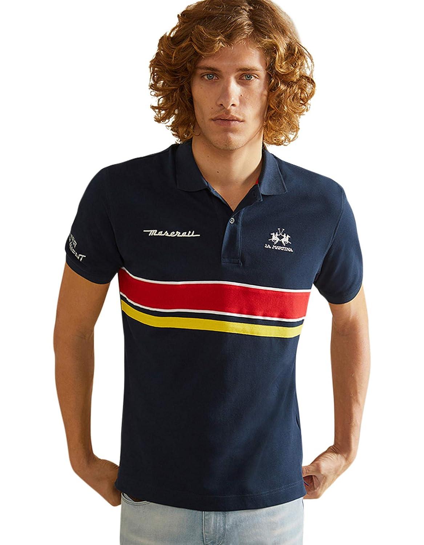 La Martina Hombres Camisa de Polo Ralphie Fit Regular Marina De ...