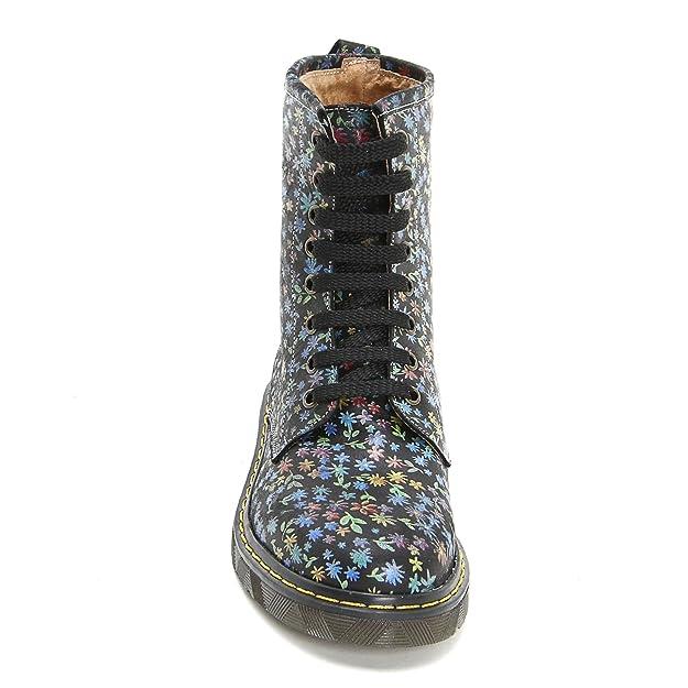 MARINA SEVAL by Scarpe&Scarpe - Botines Bajos con Estampado Floreado - 40,0, Negro: Amazon.es: Zapatos y complementos
