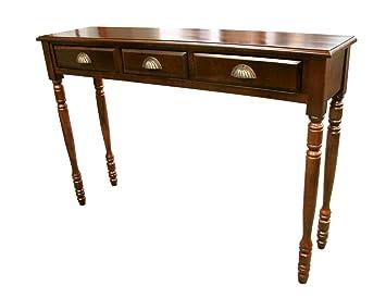 mahogany hall table. d-art collection mahogany savanna hall table with 3 drawers o