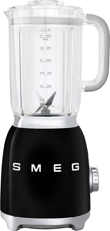 SMEG BLF01BLEU Batidora, 150 W, 0.45 litros, Metal, plástico, 4 Velocidades, Negro