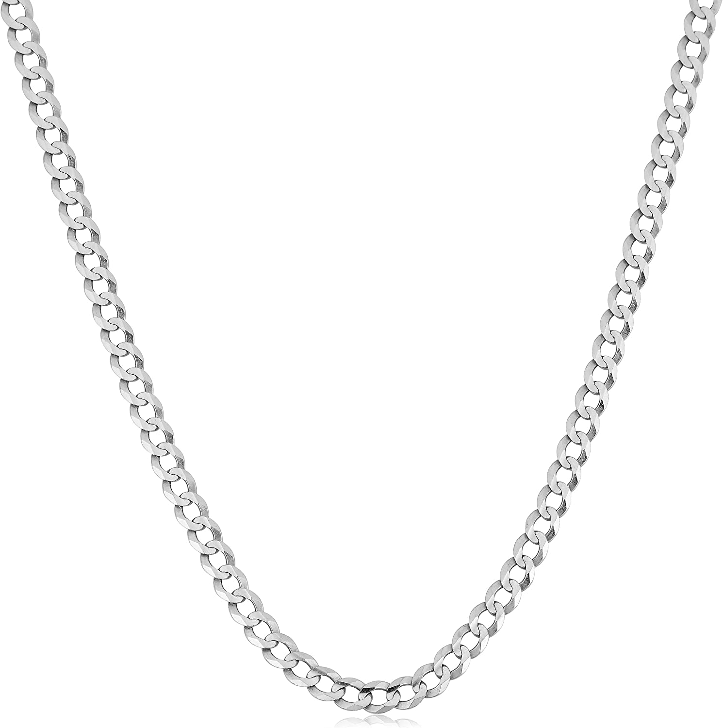 0.6 grams Ladies 14K White Gold Carded Curb Chain Necklace 24 inches