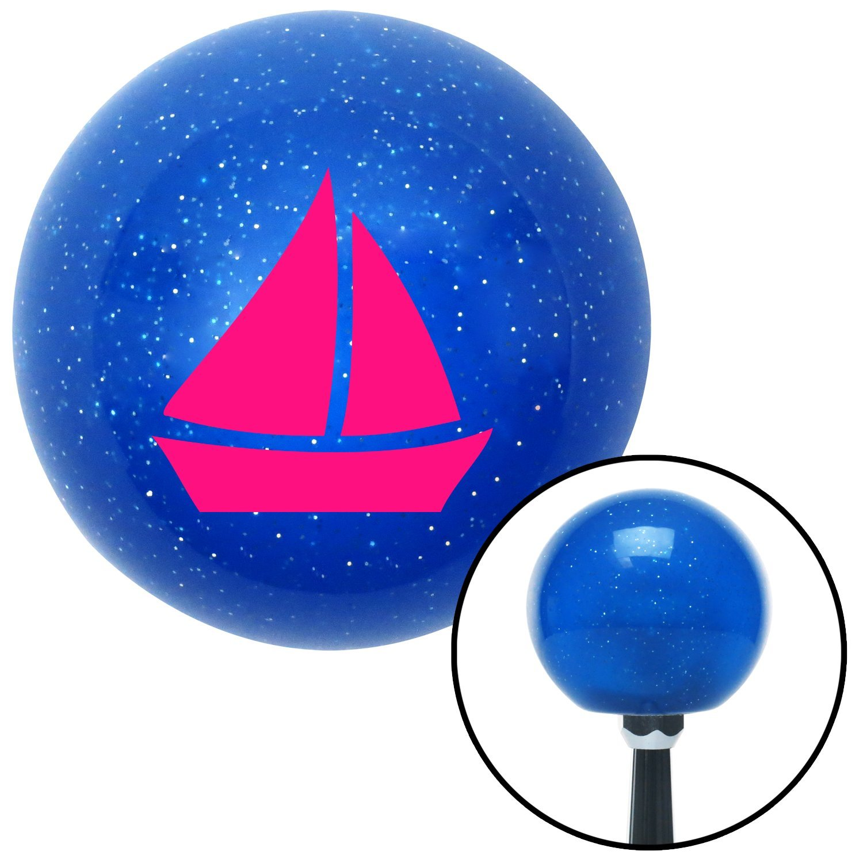 American Shifter 22654 Blue Metal Flake Shift Knob Pink Sail Boat 2