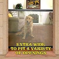 Mcgrady1xm Barrera Escalera Bebe, Barrera de Seguridad Mascotas Perros, Extensible Barrera de Puerta de Seguridad a…