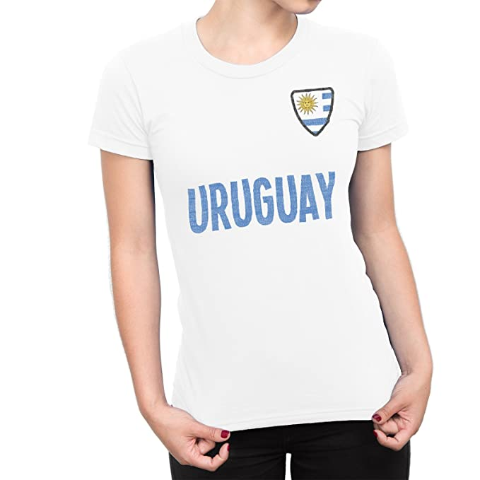 De Las Mujeres Uruguay Country Name and Badge Camiseta Fútbol Copa del mundo2018 Señoras Sports: Amazon.es: Ropa y accesorios