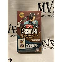 $84 » 2021 Topps Baseball Archives Signature Series Retired Player Hobby Box - Factory Sealed