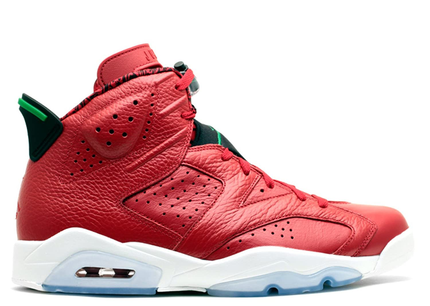 the best attitude 2517f 1a1d3 Amazon.com   Nike Mens Air Jordan 6 Retro Spizike History of Spizike  Varsity Red Classic Green-Wht Leather Basketball Shoes Size 11   Basketball