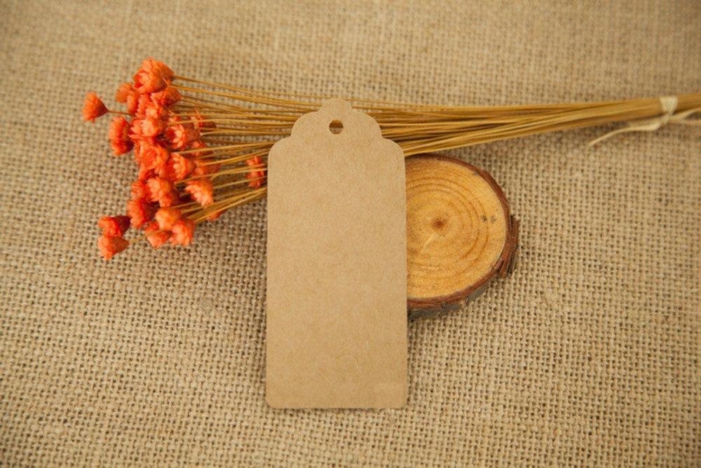 200pc Hollow a forma di cuore Kraft Tag di carta Hang tag con libero naturale Juta spago per Natale Matrimonio Ringraziamento festa di compleanno Favori di partito tag regalo rosso
