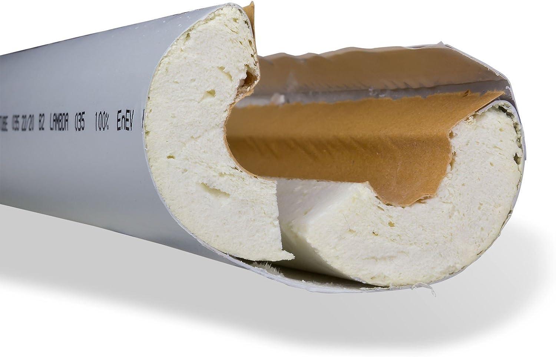 PU-R Rohrisolierung ISOTUBE040 48mm x 20mm 1m 50/% EnEV-konform Isolierschlauch Rohrd/ämmung Rohrisolation Heizung