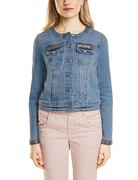1b3ad8a19535de Street One Women's 210698 Denim Jacket Blue (Fancy Moon Wash 11383) 18:  Amazon.co.uk: Clothing