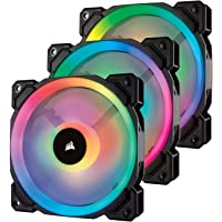 Corsair LL120 RGB Ventola da 120 mm, Dual Light Loop RGB LED PWM, Confezione Tripla con Lighting Node PRO