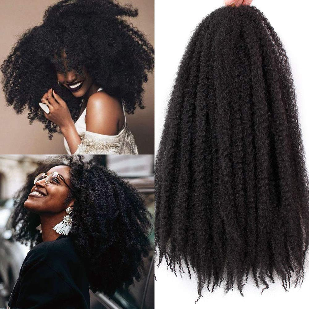 Amazoncom 3 Packs Afro Kinky Marley Braids Hair Extensions Twist