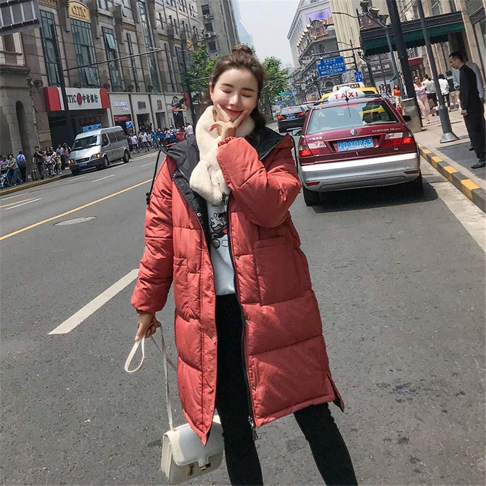 Oudan Abrigo de Invierno Abrigo de Damas, Moda para Mujer Invierno Cálido Manga Larga Abrigo de algodón con Capucha Chaqueta de Ocio al Aire Libre (Color ...