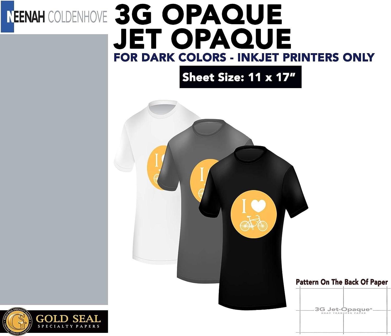 InkJet Iron-On Heat Transfer Paper 50 For Darks Neenah JET-OPAQUE JO-8