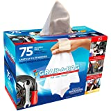 GRAB.A.RAG | Multi Use Cleaning Rags 75 Count Super Absorbent edgeless White Rags, Washable, Multi-use Rags