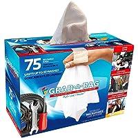 GRAB.A.RAG | trapos de limpieza multiuso, 75 unidades, trapos blancos superabsorbentes, lavables, trapos multiusos