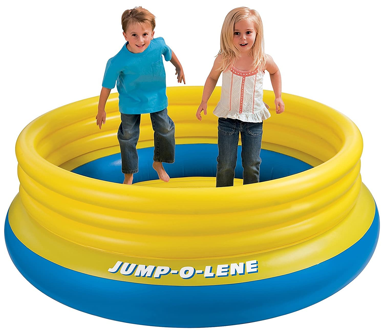 Jump-o-lene Children's Bouncer or Ball Pool Pond #48267 - Yellow & Blue Opaque