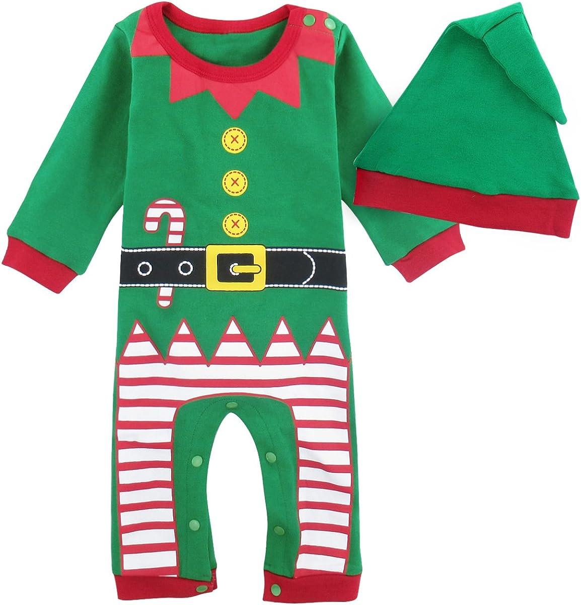 MOMBEBE COSLAND Monos para Bebé Niños Disfraz Navidad de Manga Larga 100% Algodón