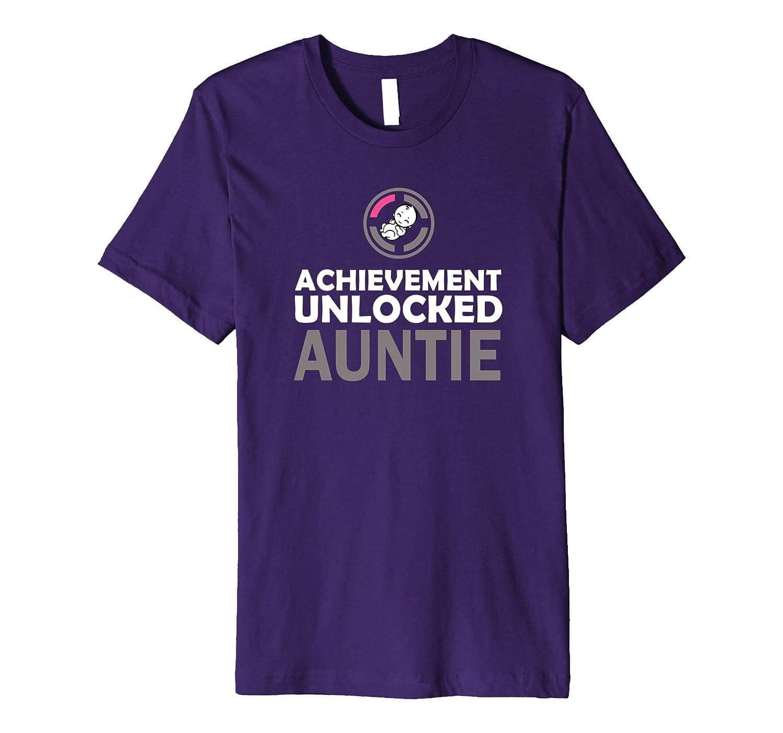 1st Time Aunt Achievement Unlocked Auntie PREMIUM Tee
