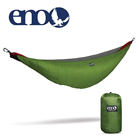 ENO – Eagles Nest Outfitters Ember Hammock UnderQuilt, Lightweight Sleeping Quilt for Cold Weather Camping, Lime Charcoal
