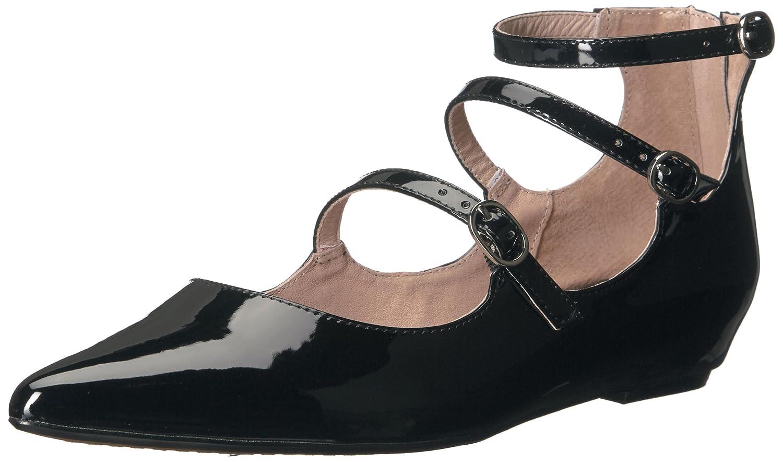 STEVEN by Steve Madden Women's Gantry Ballet Flat B01LZEG0XH 7.5 B(M) US|Black Patent