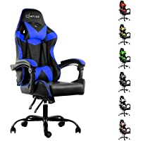 Artiss Gaming Office Chair Computer Seating Adjustable Racing Recliner Racer PU Leather with High Back and Armrest Black…