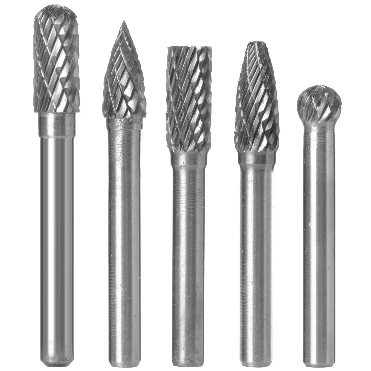 8mm Head Tungsten Carbide Point Burr Die Grinder Drill Bit Abrasive Tool New