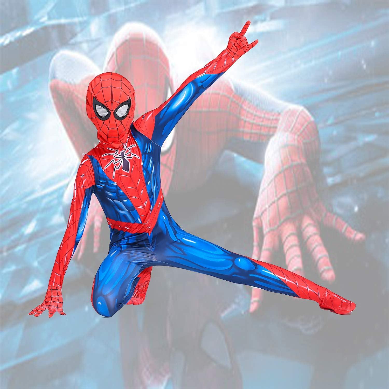 chenhui Kids Iron Spiderman Bodysuit Superhero Bodysuit Halloween Cosplay Costumes