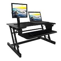 Modrine Höhenverstellbar Laptoptisch Computertisch Sitz-Steh-Schreibtisch Stehtisch Bürotisch Schreibtischaufsatz Steharbeitsplatz Standtisch