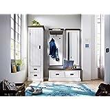 dielenm bel set tyramus aus fichte massivholz 4 teilig pharao24 k che haushalt. Black Bedroom Furniture Sets. Home Design Ideas