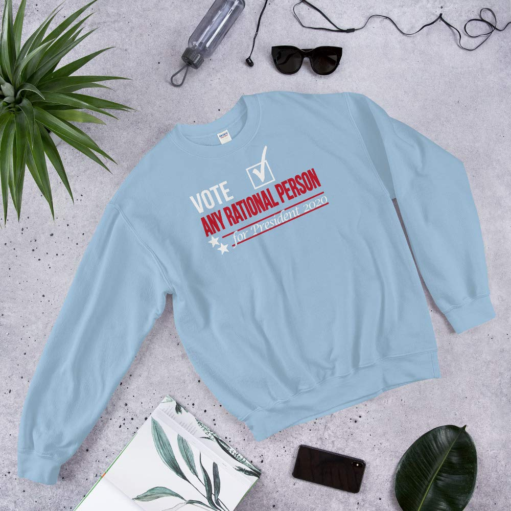 STFND Vote Any Rational Person Sweatshirt Light Blue